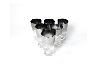 Silver Ombre Drinking Glasses / Set of 6