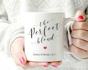 The perfect blend. Mr and Mrs. Custom coffee mug.  Ceramic Mug - words. script. Coffee cup - Classy Mug. Couple mug. Housewarming. Newlyweds