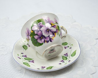 Mismatched English Bone China Tea Cup and Saucer Replacement China