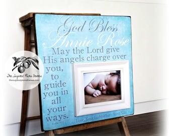 Baptism Gift for Godchild, Goddaughter Gift, Godson Gift, Christening Gift, 16x16 The Sugared Plums Frames