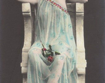 Astarte by Arjalew, French Postcard circa 1905, Pub. Croissant of Paris