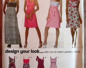 Misses Sleeveless Dress Sizes 4 6 8 10 12 14 16 Design Your Own New Look Pattern 6933 UNCUT