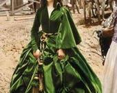 Scarlett O'Hara Green Drapery Dress Civil War Dress Gone With the Wind Butterick 4051 Sizes 12-14-16 Bust 34 36 38 Women's Sewing Pattern