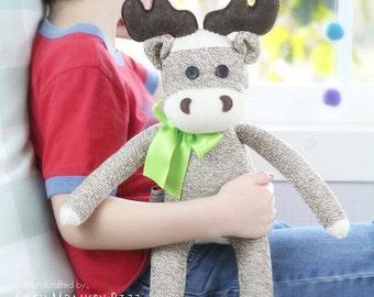 New Design, Kid's Toy, Children's Stuffed Moose Plush Doll