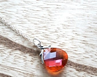 Swarovski Crystal - Swarovski Pendant - Handcrafted Necklace - Crystal Necklace - Crystal Jewelry - Sterling Silver - Silver Necklace