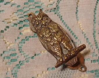 Vintage Owl Door Knocker - Solid Brass Owl Door Knocker  -   17-146