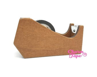 Whale Washi Tape Dispenser / Wood Tape Holder / Tape Cutter - Natural Color