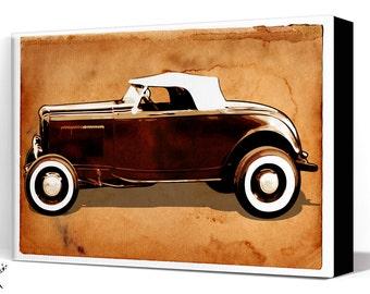 Car Art - Hot Rod - Canvas Art Print, Automobile Art, Car Gift, Garage Decor, Race Car, Man Cave Art, Garage Art, Auto art, Hot Rod Art