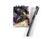 Green Arrow DC SkyBox Upcycled Trading Card Book Notebook