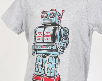 Robot on American Apparel Kids T Shirt 2T, 4T, 6T, 8Y Ready To Ship!!!!