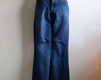 80s Todd Oldham Flare Jeans Vintage Designer Bell Bottom Blue Cotton 198s Denim Pants 9-32