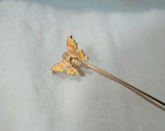 Krementz Butterfly Stick Pin