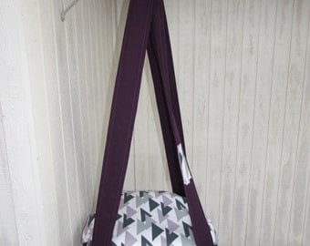 Cat Bed, Triangles Purple, Grey, Navy Single Kitty Cloud, Hanging Cat Bed, Pet Bed, Cat Tree, Pet Gift
