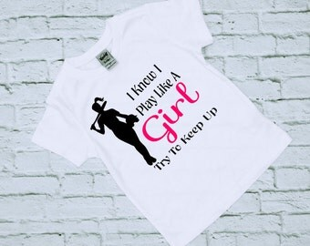 Softball TShirts - Girl Power - Sports Shirts - Gift for Her -  Softball Shirts - Softball Gifts - Girls Softball Shirts - Girls Softball