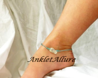Beach Anklet Sandal Flip Flop Ankle Bracelet Cruise Jewelry Pearl Body Jewelry Fetish Foot Jewelry