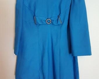 Vintage 1970's blue mini evening dress