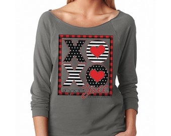 Valentines Day Shirt, Women's Valentines Shirts, XoXo Y'all Shirt, Valentines Sweatshirt, Valentines Shirts for Women