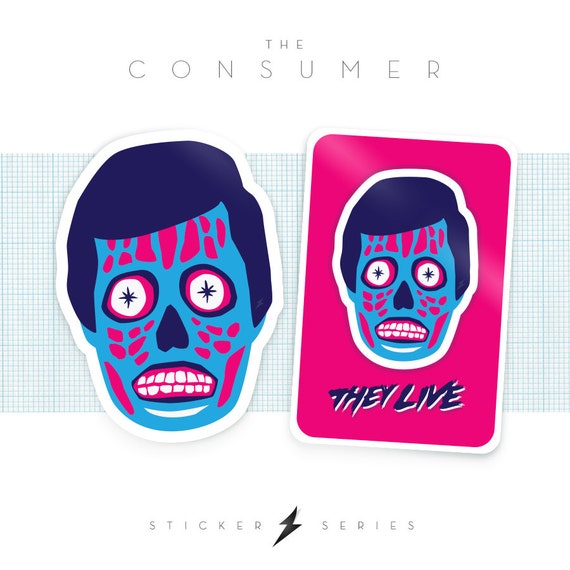 The Consumer - They Live Stickers (2-Pack)