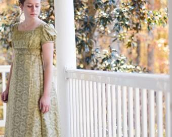 Regency Dress, Jane Austen Dress, Formal Ball Gown, Early 19th Century Tea Dress, Vintage Saree, Emma 2009, Misses 2