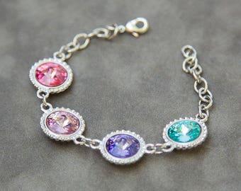 Custom Mother's Bracelet, Grandma Mother's Day from Daughter, Family Birthstone Bracelet, Grandmother's Jewelry, Personalized Bracelet