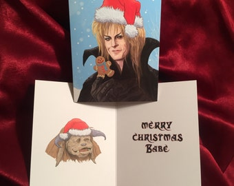 JARETH Labyrinth CHRISTMAS CARD!