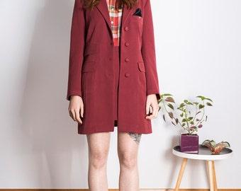 Jacket skinheadgirl 70s burgundy 1960s Skinhead Mod suedehead Custom made