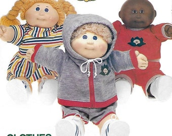 Butterick 332 80s Cabbage Patch Kids Doll Clothes Sewing Pattern 16 inch Doll