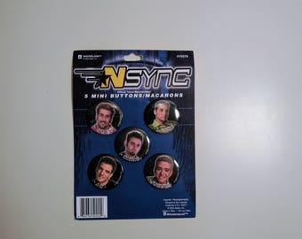 N'SYNC Button Set Pins Boy Band