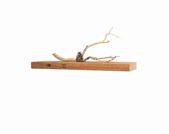 Reclaimed wood floating shelf - 24""