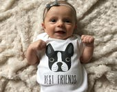 Baby clothes, Boston Terrier baby bodysuit, baby boy clothes, baby girl clothes, baby gift