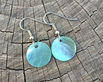 Light Blue Shells . Earrings . Marina Collection
