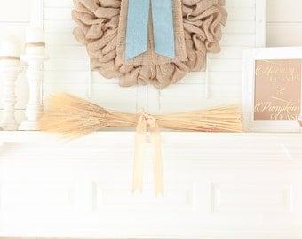 Summer wreaths for front door, Bridal Shower Decorations, Something Blue, Summer decorations for the home indoor wreaths contemporary wreath