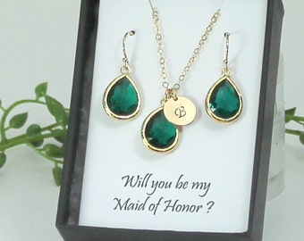 Emerald Earrings Gold, Bridesmaid Earrings, Green Earrings Emerald Green Bridal Jewelry Bridesmaid Gifts Wedding Jewelry