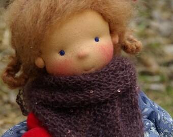 "Heidi and Michel OOAK doll by Atelier Lavendel 16"" Waldorf Inspired Doll Cloth Doll ECO friendly"