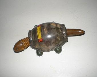 Turtle Nodder Tin Toy Lithograph Metal Realistic Vintage Biloxi Mississippi Souvenir