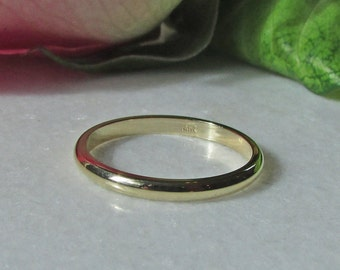 14k Yellow Gold Band, 2mm Yellow gold Band, 14k Yellow Gold Stacking Band, 2mm Yellow Gold Wedding Band, 14k Yellow Gold Spacer Bands