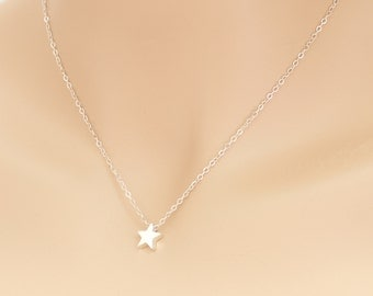 Star Necklace, Floating Star, Sterling Silver, Grad Gift, Teacher Gift, Star Pendant, Star Jewelry, Star, Birthday Gift, For Her, BeadXS