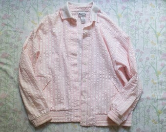 baby pink bomber - large