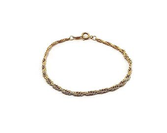 Trifari Vintage Chain Bracelet Gold Tone with Spring Clasp Retro Womens 1980s 80s