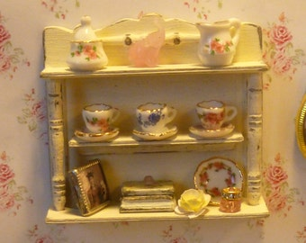 Miniature Shabby Chic Country Cup Shelf for your Dollhouse