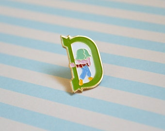 Vintage Letter D Pin - 2 - Enamel Pin - Lapel Pin - Letter Pin - Tie Pin - Pin Badge - Soft Enamel Pin - Flair - Pin Game