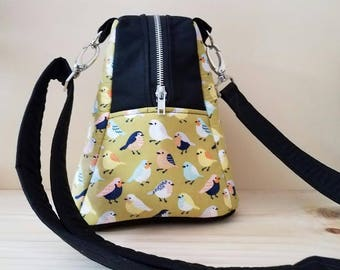 Point and Shoot Camera Bag-Cute-Chic-Fun-Small Camera bag-Detachable shoulder strap-VINTAGE BIRDIES