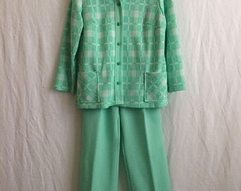 Vintage 1970s polyester leisure suit.