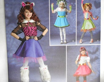 Simplicity 1350 Size 7-14 Girls Costumes Monster High