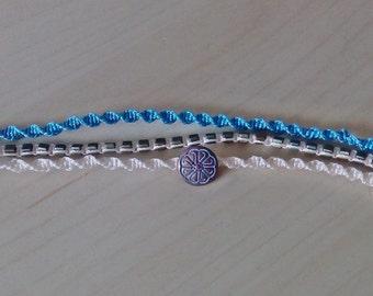 Friendship bracelet - micro macrame jewelry - triple bracelet - multi stranded bracelet.