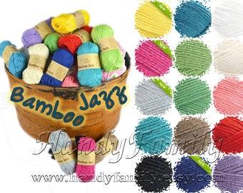 Fibra Natura Bamboo JAZZ 8Ply Cotton & Bamboo Crochet/ Knit Yarn 3 medium DK light worsted Choose Colour DSH