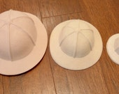 Safari Hat Pith Helmet Doll and Teddy Bear making supplies 3 sizes AGD 18inch doll hat