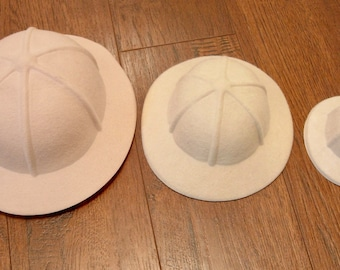 Safari Hat Pith Helmet Doll and Teddy Bear making supplies 2 sizes AGD 18inch doll hat