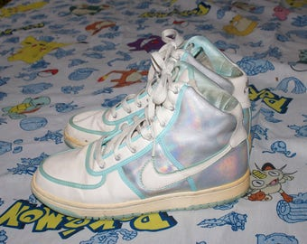 90s holographic Nike high tops