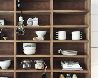 Vintage Wood Cabinet/Shelving Unit